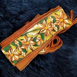Hand Woven Guatemalan Belt wrap Scarf